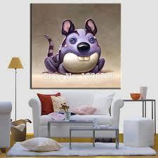 meistverkaufte handarbeit artikel lustige tiere maus und katze moderne malerei bunte für wohnzimmer schlafzimmer set design