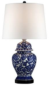 Tahari Home Lamps Crystal by Blue And White Porcelain Temple Jar Table Lamp Style R2462