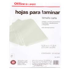 MICA TERMICA OFFICE DEPOT 25 PZAS CARTA