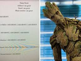 This Student Made A Resume For Groot And It's Honestly Hilarious ... Fall 2018 Scholarship Winner Announcement Resume Companion Jeffrey Scott Davis M Ed Cswa On Twitter My Students Had To Chronicle Resume Sazakmouldingsco Wichita Falls Teachers Tweet Going Viral Radicalist Labs Free Professional Templates Vs Job It Template Word Sample Fre Lyft Driver Inspirational Maker Reddit Your Story Cv Word Font I Am Groot Thathappened 97 Cover Letter Generator Samples New How To Restaurant Manager Keyword Opmization Tool