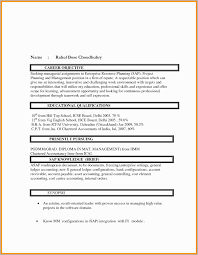 Resume Headline Examples For Mba Fresher Format Choice Image Free Templates Word