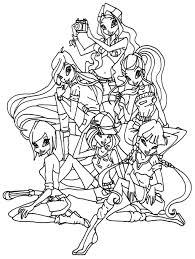 Download Coloring Pages Winx Club Games