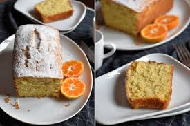 getränkter mandarinenkuchen mit frischen mandarinen