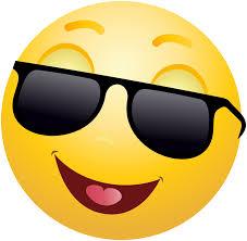 Smiling Emoticon Emoji With Sunglasses Clipart Info