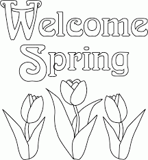 Pretty Coloring Free Printable Spring Pages At Color Sheets Ant