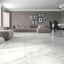 Typical White Floor Tiles For Living Room E6159989