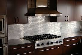 Kitchen Backsplash Ideas With Dark Cabinets Stainless Steel Moen Faucet Two White Pendant Lamp