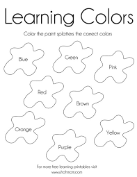 Free Printable Coloring Pages Educational Learning Colors