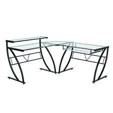 Glass L Shaped Desk Office Depot by Z Line Designs Black Desk Zl1441 1du The Home Depot