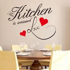 wandaufkleber zitat küche herzen hause esszimmer große dekor aufkleber sprüche 8243