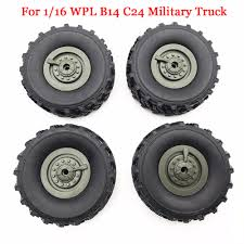 100 16 Truck Wheels 4pcsLot WPL Upgrade RC RC Tires Spare Parts For 1 WPL B14