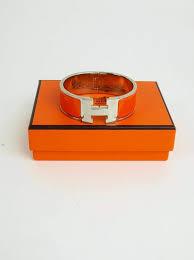 hermes h clic clac bracelet hermes h clic clac pm orange vintage united