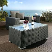 Outdoor Coffee Tables Wicker Table Rattan Garden For Retro