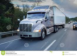 Semi Truck 18 Wheeler On Road Stock Image - Image Of Hour ...