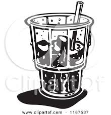 Food and water clipart black and white