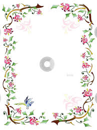Floral Frame Clip Art Rustic Border Designs Decorative Elements With Lettering