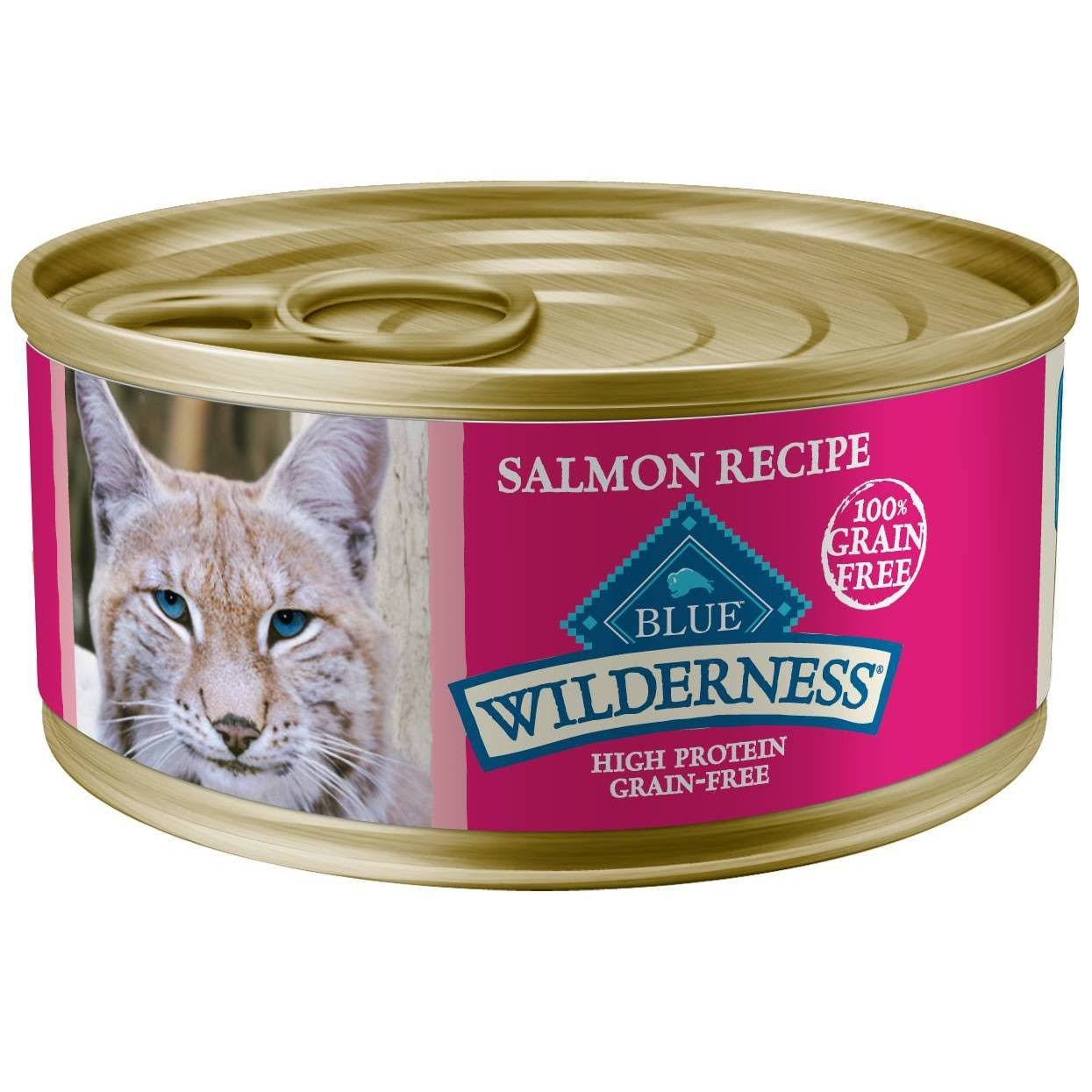 Blue Wilderness Food for Cats, Natural, Salmon Recipe - 5.5 oz