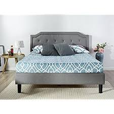 Amazon Zinus Upholstered Scalloped Button Tufted Platform Bed