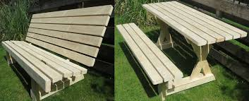 to build a picnic table and bench