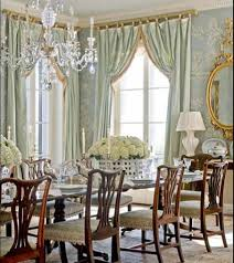 French Country Dining Room Ideas With Crystal Chandelier