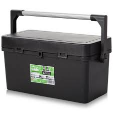 100 Plastic Truck Toolbox 55cm Tool Box With Lid Recycled Black