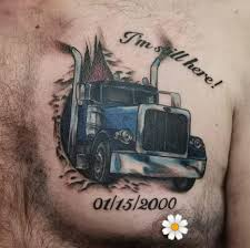 100 Semi Truck Tattoos List Truckertattoo Photos And Videos