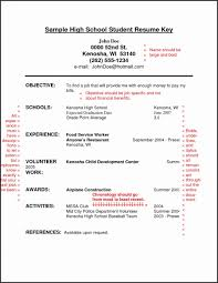 Resume Templates Examples Objective For Best Sample High School Student Highschool