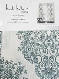 nicole miller set of 2 long window panels curtains drapery hidden
