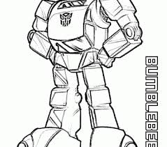 Bumblebee Coloring Pages Free Printable Transformers For Kids To Print