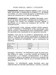 MODELO CARTA PODER