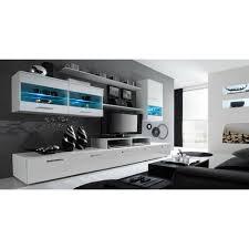 Anbauwand Wohnzimmer Mã Bel Möbel Tv Möbel Set Glanzlack Wohnwand Wohnzimmer Wohnzimmerschrank Anbauwand Esszimmer Mit Leds Weiß Matt Und Weiß Lackiert Maße 250 X 194 X