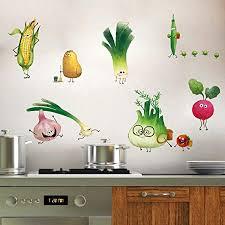 ufengke wandtattoo gemüse küche wandaufkleber wandsticker karotte zwiebel für esszimmer schrank kühlschrank