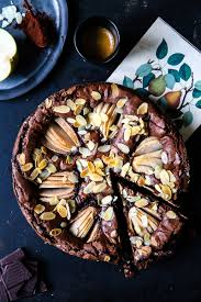 birnen brownie kuchen rezept pear brownies