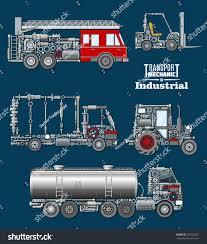 100 Truck Loader 10 Industrial Transport Mechanics Poster Autotruck Fire Stock Vector