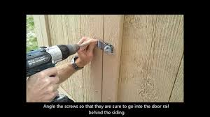 Metal Storage Shed Doors by 9 Installing Shed Door Hardware How To Build A Generator