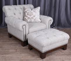 Gordon Tufted Sofa Home Depot by Magnussen Home Caitlyn Transitional Button Tufted Chair And