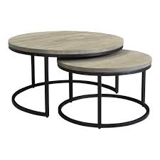 Moe's Home Collection Drey Round Nesting Coffee Tables - Set Of 2 Nesting Tables Set Of 2 Havsta Gray Josef Albers Tables 4 Pavilion Round Set Zib Gray Piece Oslo Retail 3 Modern Reflections In Blackgold Two Natural Pine And Grey Zoa Nesting Tables Set Of Lack Black White Contemporary Solid Wood Maitland Smith Faux Bamboo