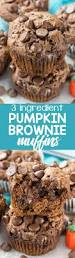 Cake Mix And Pumpkin Puree Muffins by 3 Ingredient Pumpkin Brownie Muffins Crazy For Crust