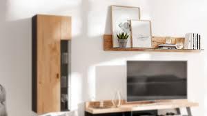 interliving wohnzimmer serie 2105 wandregal wi195 balkeneiche klarglas länge ca 195 cm