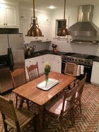 The Lancaster Running Bond Brick Kitchen Floor Warms Up A Striking Contemporary Color