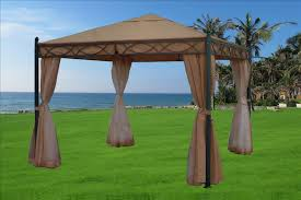 10 x 10 Beige Gazebo Canopy