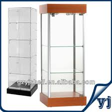 different kinds of wall mount glass display cabinets light up