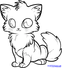 Cute Anime Cat Coloring Pages Me Arresting Cats In At