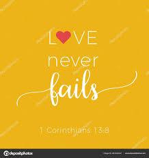 Biblische Wort Aus Korinther Liebe Versagt Nie Typografie Design Für