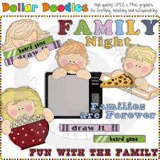 Free Download Family Night Clip Art 91KB 600x600