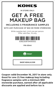 Kohls Free Makeup Bag & Fragrance Samples W/$50+ Purchase ... Kohls Coupons 2019 Free Shipping Codes Hottest Deals Bm Reusable 30 Off Code Instore Only Works Faucet Direct Free Shipping Coupon For Denver Off Promo Moneysaving Secrets Shoppers Need To Know Abc13com Venus Promo Bowling Com Black Friday Ad Sale Code 40 Active Coupon 2018 Deviiilstudio Off 20 Coupons 10 50 Home Pin On Fourth Of July The Best Deals And Sales Online Discount