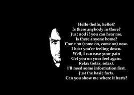 Pink Floyd fortably Numb Rock Lyrics Poster A3 A4