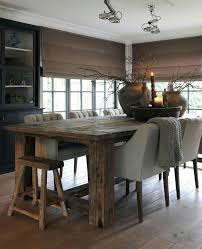 Best 25 Modern Rustic Dining Table Ideas On Pinterest Brick Popular Room Sets Intended For