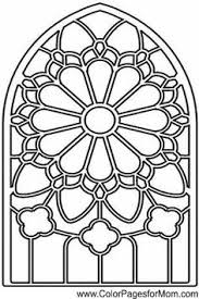Stained Glass Coloring Pages Adult Sketch Page