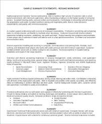 Customer Service Description For Resume Retail Job Beautiful 18 Elegant Summary Examples